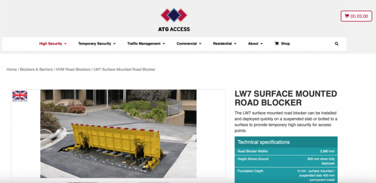 ATG AVS-elli LW7 vehicle barrier