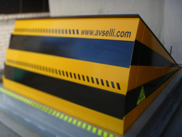 AVS-elli TSM3 Vehicle Barrier in yellow and black