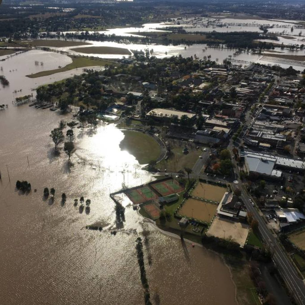 image of flood waters from aircraft