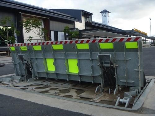 AVS-elli LW4C vehicle barrier in open position