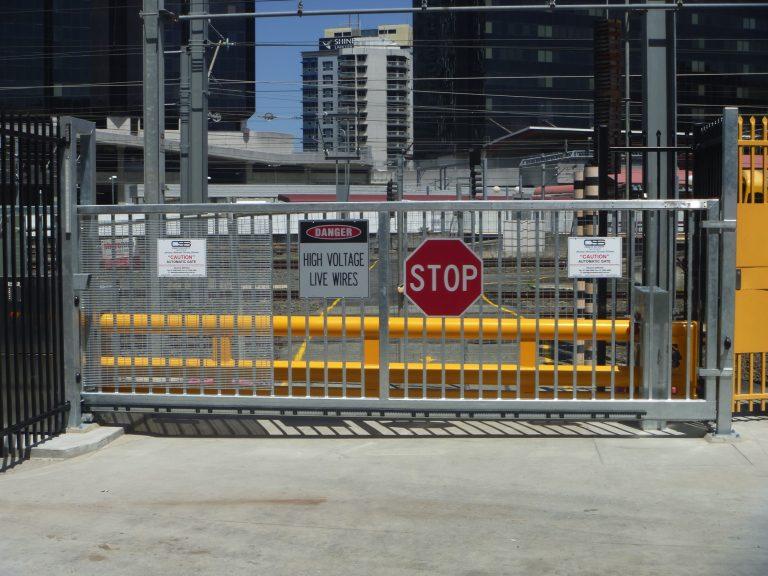 avselli cantilever sliding gate with ARSB sliding HVM barrier