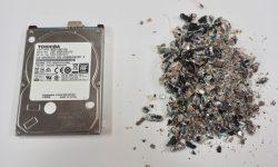 AVS-elli Media Destructor Hard drive before and after